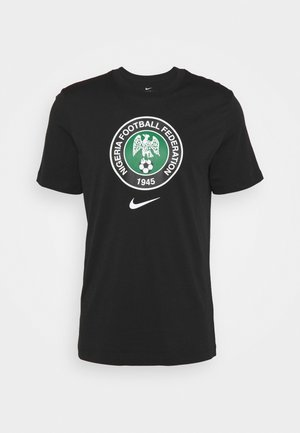 NFF NIGERIA TEE EVERGREEN CREST - National team wear - black