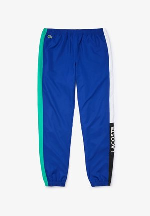 TENNIS PANT - Tracksuit bottoms - bleu / vert / blanc / noir