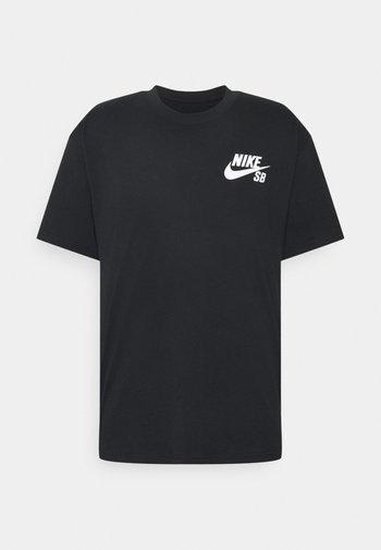 TEE LOGO UNISEX - T-shirt med print - black/white