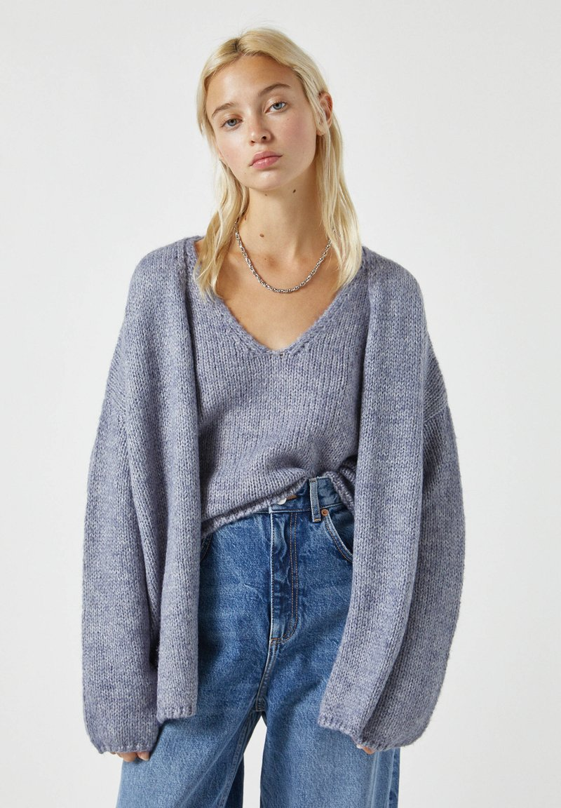 PULL&BEAR - Cardigan - mottled grey