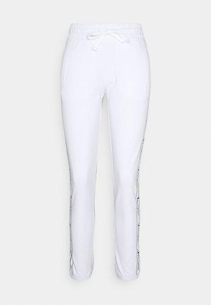 ELASTIC CUFF TAPING PANTS - Pantalon de survêtement - white