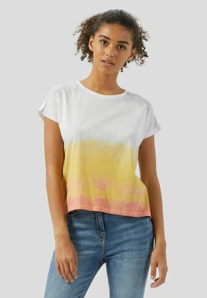 KIMONO SLEEES  - T-shirt con stampa - mustard