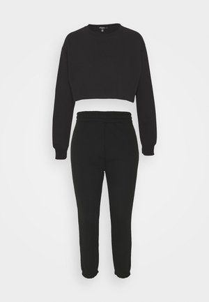 CROP JOGGER SET - Tracksuit - black