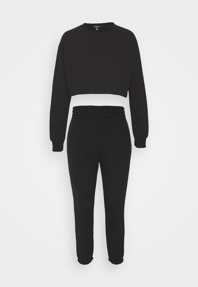 CROP JOGGER SET - Tuta - black