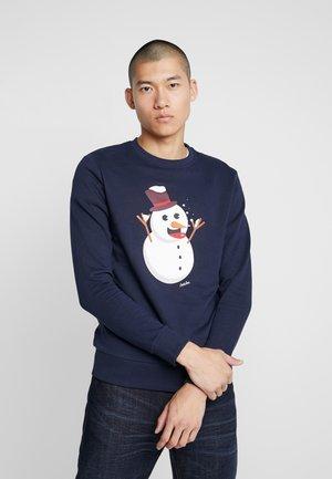 JORSNOWFLAKE CREW NECK - Sweatshirt - navy blazer