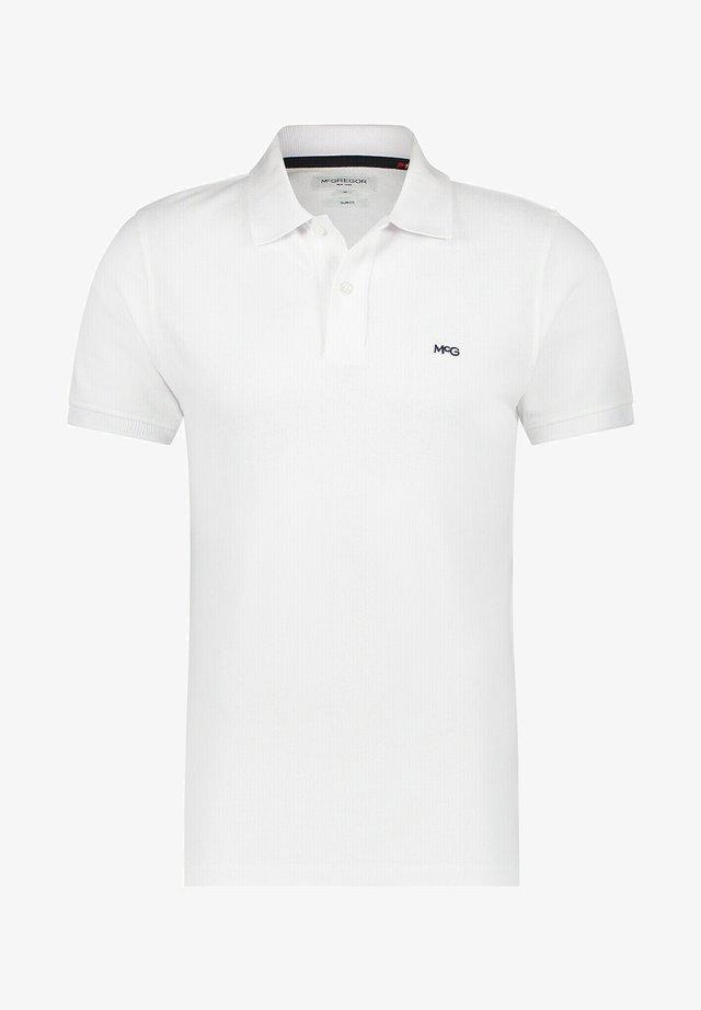 SLIM FIT - Polo shirt - white