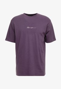 Mennace - ESSENTIAL SIG UNISEX - Basic T-shirt - purple - 3