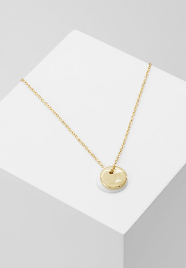 MINI RIPPLE DISC NECKLACE - Ketting - gold-coloured/white