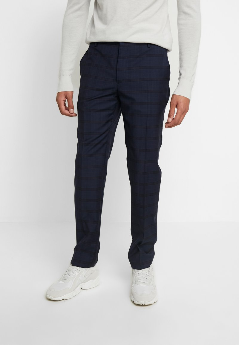 Calvin Klein Tailored - TELA CHECK NATURAL STRETCH - Trousers - blue
