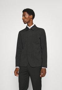 Selected Homme - SLHREG JEFF HYBRID - Blazer jacket - dark grey melange - 0