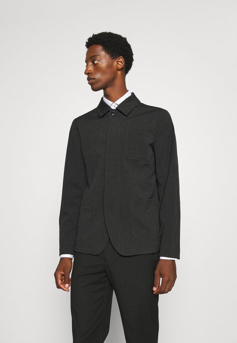 Selected Homme - SLHREG JEFF HYBRID - Blazer jacket - dark grey melange