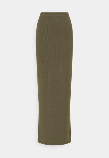 NMMOX LONG SLIT SKIRT - Maxi sukně - kalamata