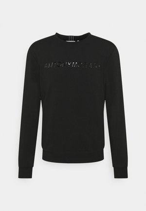 SLIM FIT WITH SHINING  - Maglione - black