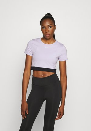 AEROADPT CROP TOP - Triko s potiskem - infinite lilac/black/metallic silver