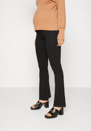 PULL ON FLARE PANT - Trousers - black