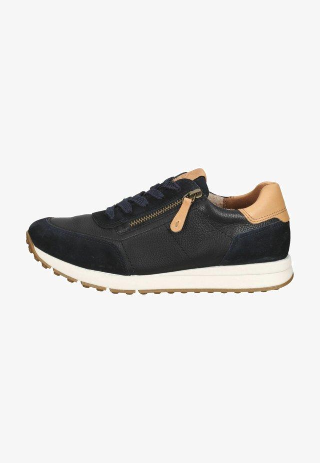 Sneakersy niskie - blau/mittelbraun