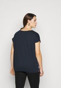 MY TRUE ME TOM TAILOR - FABRIC MIX - Print T-shirt - navy - 2