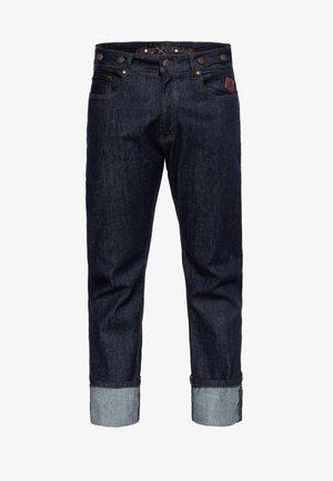 MIT HOSENTRÄGER-KNÖPFE  - Straight leg jeans - denim