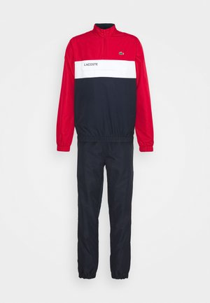 TRACKSUIT - Chándal - ruby/navy blue/white