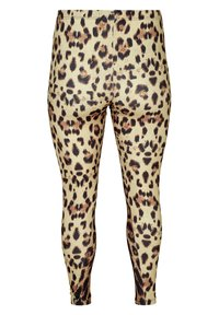 Zizzi - Leggings - Trousers - brown - 3