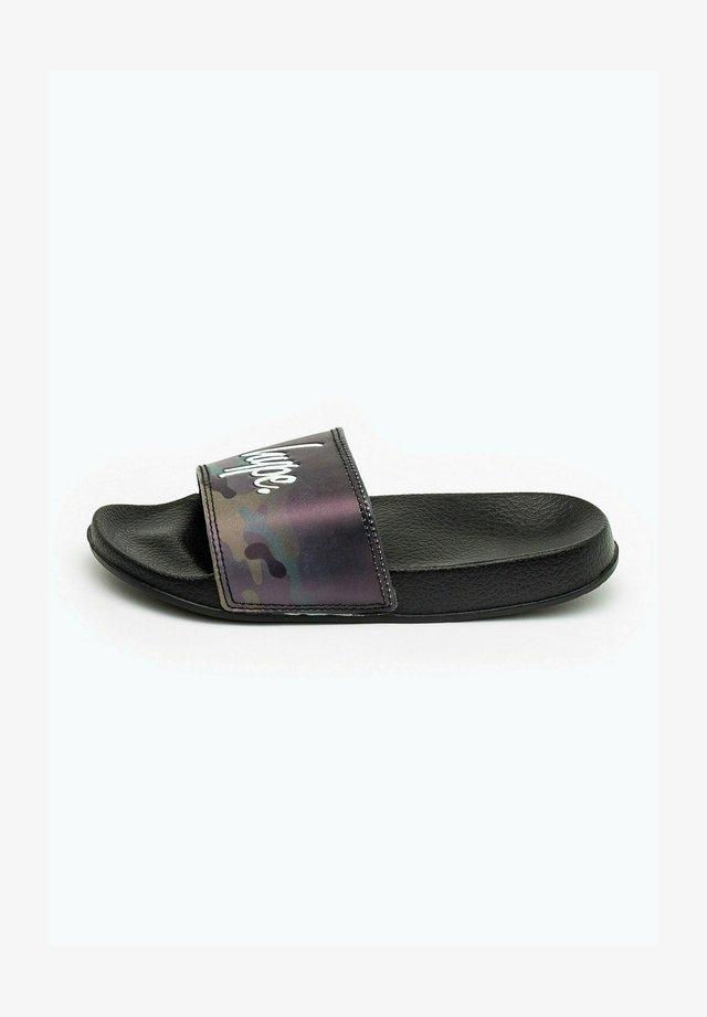 CAMO FADE - Pool slides - black