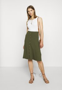 Even&Odd - A-line skirt - olive night - 1