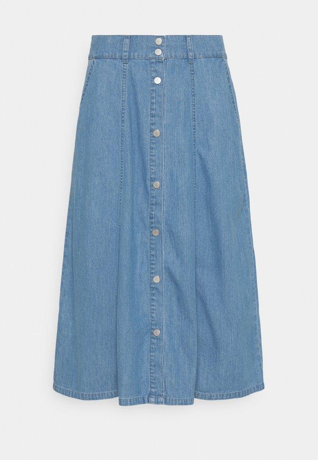 BYDANIE SKIRT  - Jupe longue - mid blue denim