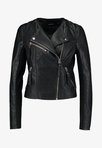 VMRIA SHORT JACKET - Chaqueta de cuero sintético - black