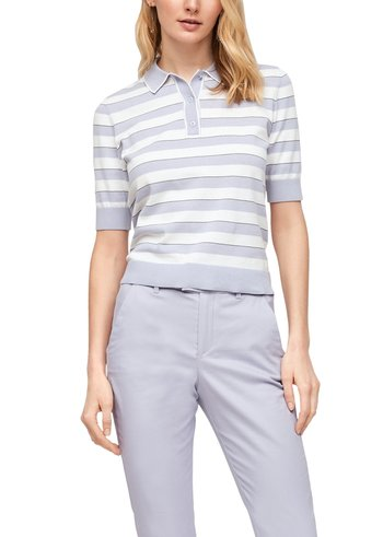 Polo shirt - lilac stripes