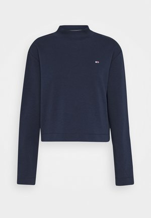 SOLID HYBRID LONGSLEEVE - Long sleeved top - twilight navy