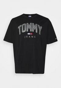 Tommy Jeans Plus - SHADOW TEE - Print T-shirt - black - 0