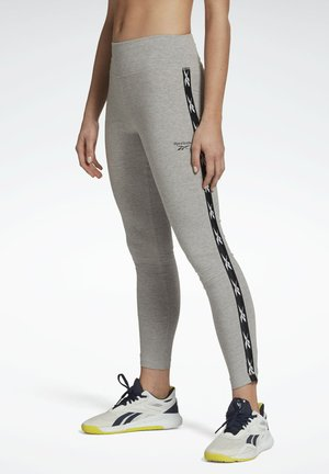REEBOK VECTOR TAPE LEGGINGS - Collants - grey