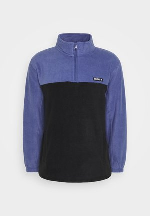 EULOGY MOCK NECK ZIP - Fleecegenser - black