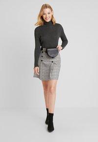 Freequent - Sweter - dark grey melange - 1