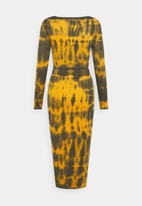Missguided - CUT OUT TIE DYE  DRESS - Jerseykjole - brown - 1
