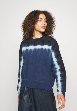 TIE DYE - Sweatshirt - navy/aqua/black