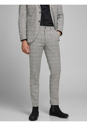 Karierte - Pantaloni - grey melange