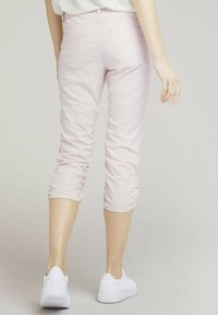 TOM TAILOR - Trousers - beige thin stripe - 2