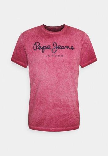 WEST SIR NEW - Print T-shirt - currant
