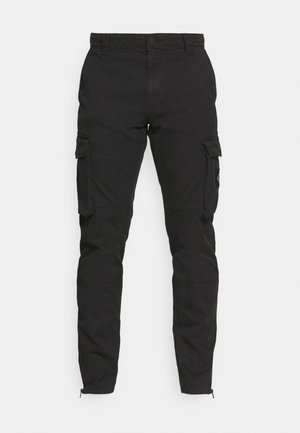 WASHED PANT - Cargobyxor - black