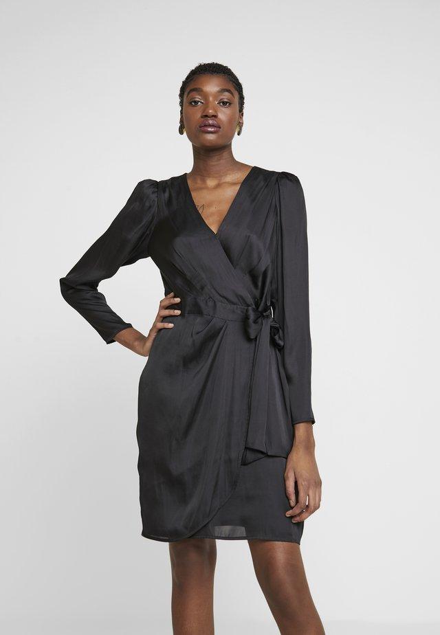 WRAP SHEATH SOLID SOFT - Day dress - black