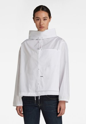 LONG SLEEVE MOCL NECK SHIRT - Long sleeved top - white