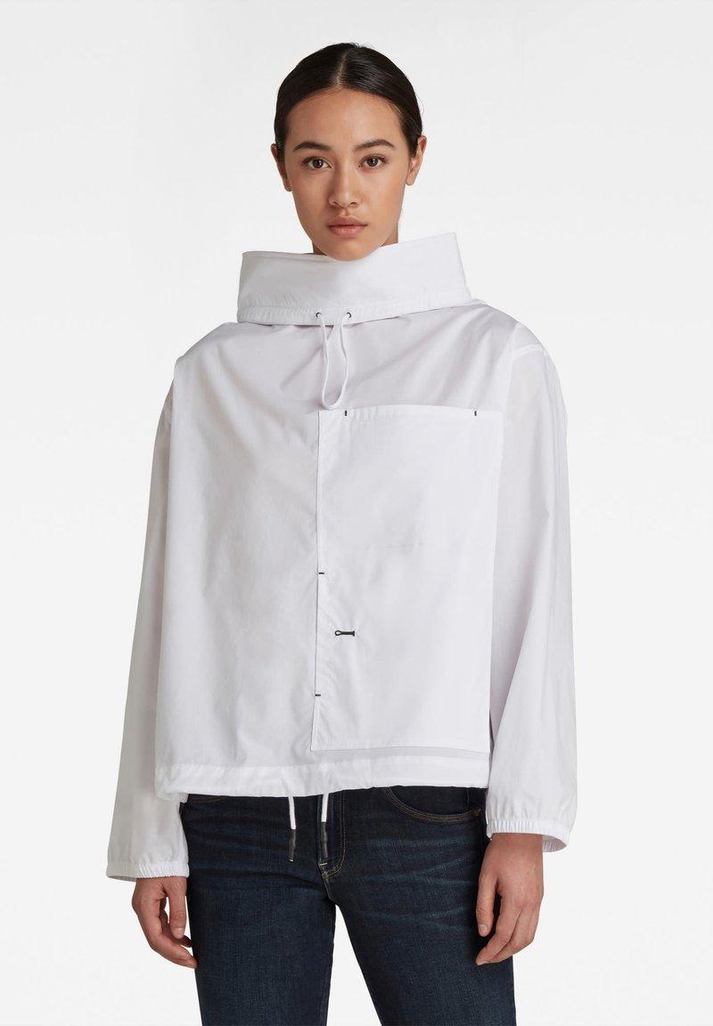 G-Star - LONG SLEEVE MOCL NECK SHIRT - Long sleeved top - white