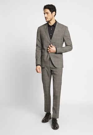 CHECK SUIT - Oblek - light brown