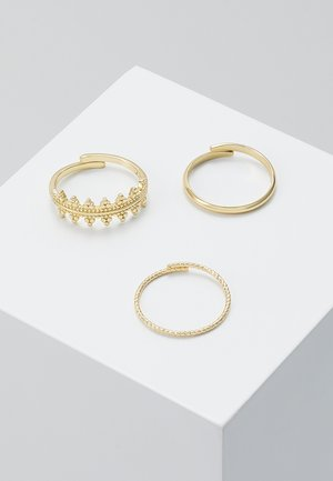 RING KIKU 3 PACK - Ringe - gold-coloured