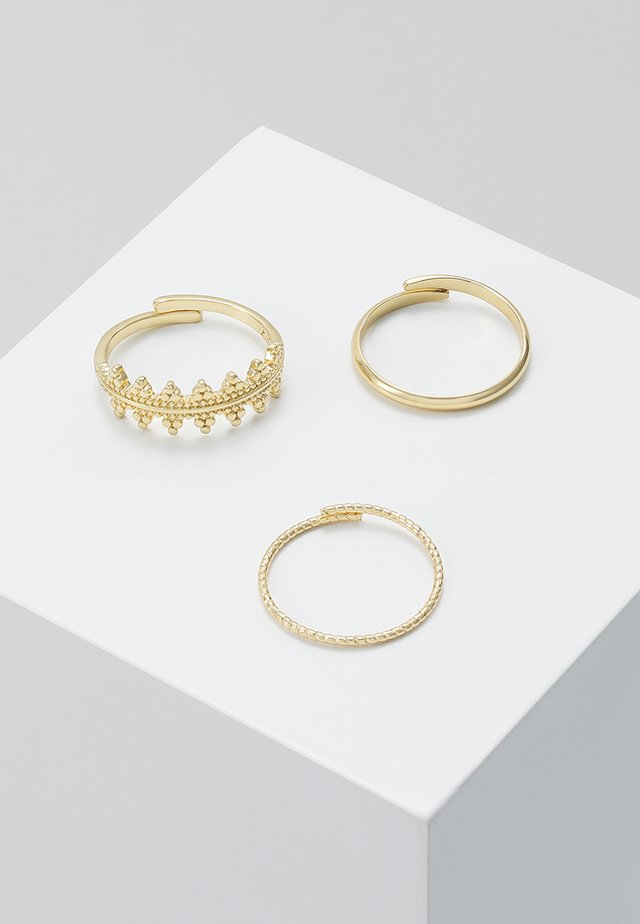 RING KIKU 3 PACK - Ring - gold-coloured