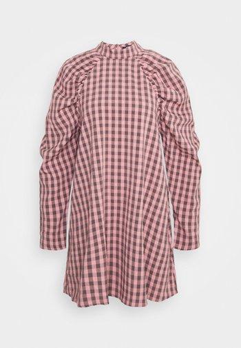 CHECK HIGH NECK DRESS