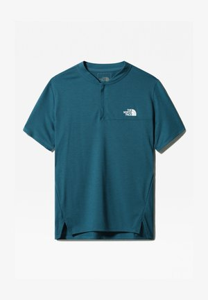 M ACTIVE TRAIL POLO - T-shirt z nadrukiem - mallard blue