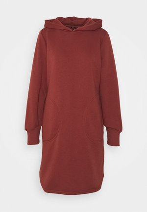 ONLELVIRA HOOD DRESS - Kjole - sable