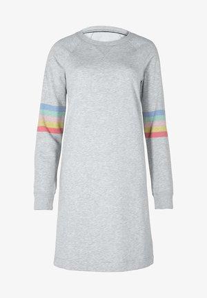 Day dress - grau, regenbogenstreifen